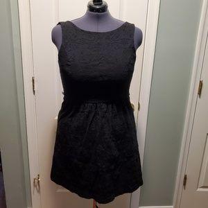 Elle little black dress lace overlay